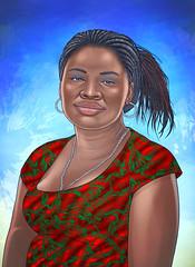 AFRO (UllisesJavier) Tags: color illustration digital photoshop persona mujer colombia afro wacom negra comunidad ilustracion raza realista choc figurativo afrocolombiana luiaurel tabletawacom