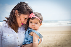 Mommy and Baby Everly (Adolfo Garza) Tags: baby beach children 50mm day babies child outdoor mommy 8 sigma naturallight months 6d canon6d