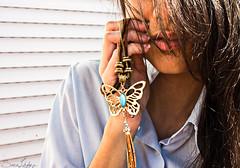 74/365 (Sariixa) Tags: blue white selfportrait blanco me azul butterfly myself necklace yo autoretrato 365 collar autorretrato mariposa selfie colgante sarixa