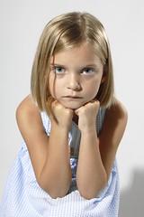 Concentration (G-daddyArt) Tags: shadow portrait girl dress headshot reflector alienbees strobist