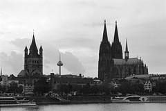 Köln am Rhein (yatofoto) Tags: bw film analog nikon cologne köln diafine nikkor f801s 852 rpx400