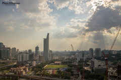 Sun rays! (mahernaamani) Tags: city summer sun tourism nature beauty weather clouds canon buildings landscape asia cloudy outdoor malaysia rays kualalumpur residence sunrays missyou kl constructions 6d midvalley     thegardens   canon6d