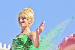 Tinker Bell in Mickey's Soundsational Parade at Disneyland (GMLSKIS) Tags: california disneyland tinkerbell disney parade fairy amusementpark anaheim mickeyssoundsational