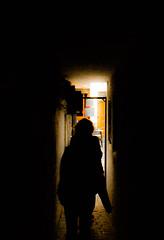 Narrow (FrancescoBernardi) Tags: street light black girl bruxelles amateur narrow