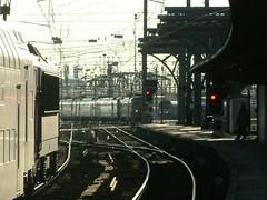 Gare de Bruxelles-Midi (aloeildeverre@yahoo.fr) Tags: railroad station train de rail railway chemin fer sncf waggon brusselzuid sncb loeildeverrephotographie