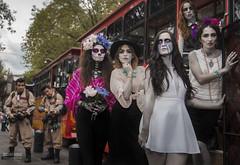 Ghoul Bustin' (CronicasVicino) Tags: halloween mexico la felix maria sony makeup frida diademuertos mariachi ghosts ser alpha coyoacan catrina mexicodf llorona fantasmas a77 charro doa ghouls khalo reenfoque