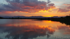 October 1, 2015 - Sunset reflections on Broomfield's McKay Lake. (David Canfield)