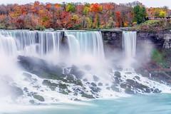 Niagara Waterfalls during autumn (Marchelo13) Tags: longexposure autumn canada colors niagarafalls waterfall fallcolors niagara niagarawaterfalls