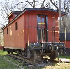 Van Lear, Kentucky (2 of 6) (Bob McGilvray Jr.) Tags: park wood railroad public train wooden display kentucky ky tracks caboose co vanlear chesapeakeohio