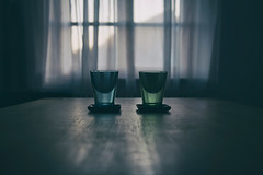 untitled . (helmet13) Tags: window backlight table raw silence simplicity coaster ordinarythings aoi 200faves peaceaward heartaward world100f d800e longdrinkglasses