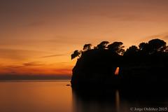 Cala galdana- Menorca (jorgerg770) Tags: autumn sunset sea espaa seascape color beach water island atardecer spain nikon long exposure paisaje reflejo otoo islas menorca cala paraso baleares balearic d90 galdana