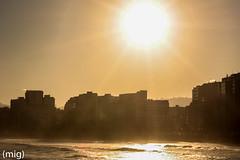 ((mig)) Tags: city sea sun sol beach canon mar gijn ciudad playa xixn