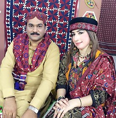 Ahmed Mughal and a tv host dressed in Sindhi cultural dress on Sindh culture day in Karachi 2015 (GlobalCitizen2011) Tags: karachi sind sindh sindhi ajrak sindhiembroidery sindhidress sindhipeople sindhiclothing sindhiclothes