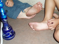 429476916jIkbhd_fs (Zappacity) Tags: girls shisha pipe smoking teen barefoot soles hookah dirtyfeet