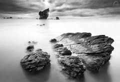 THE LEGEND OF CAVALIER (R a q u e l d e C a s t r o | Images) Tags: longexposure light sky sun seascape beach clouds composition coast sand asturias aguilar filters northphototourscom raqueldecastroimagessmugmugcom