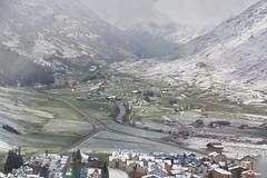 On the train to Zermatt (willywayne) Tags: snow mountains switzerland town village valley snowing zermatt matterhorn