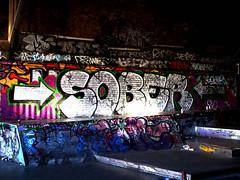 Sober (Draopsnai) Tags: bridge urban streetart writing graffiti tagging sober southwark