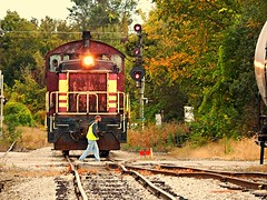 Throwing the switch on the Kendallville Terminal Railroad (Matt Ditton) Tags: railroad indiana terminal kendallville shortline