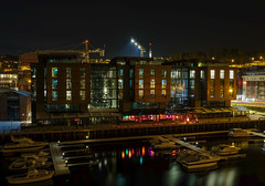 Nightshot from Trondheim (A.Husvaer) Tags: norway river norge trondheim