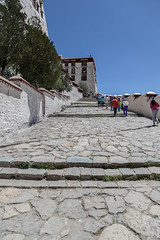 Potala Palace . Lhasa (:: Blende 22 ::) Tags: old museum stairs silver gold hill objects buddhism palace tibet historic stairway jade curtains lama tibetan spiritual carpets lhasa potala porcelain sculptures unescoworldheritage cultural dalai canopies potalapalace numerous  canoneos5dmarkii ef2470mmf28liiusm chiefresidence foundedinthe7thcentury altitudeof3700m mountpotalaka