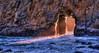 Portal_Light (wendyseagren) Tags: california pfeiferbeach bigsurcoast portalopening keyholerock orrangeglowthroughopening