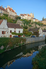 2016-10-24 10-30 Burgund 562 Semur-en-Auxois (Allie_Caulfield) Tags: foto photo image picture bild flickr high resolution hires jpg jpeg geotagged geo stockphoto cc sony alpha 77 france frankreich burgund bourgogne ctedor historic city altstadt semur en auxois semour stiftskirche notredame