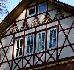 (:Linda:) Tags: germany thuringia town hildburghausen hospital four six historicism rocaille andreaskreuz window halftimbered gable