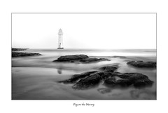 """Fog on the Mersey"" (Ray Mcbride Photography) Tags: lighthouse perchrock fog rivermersey"