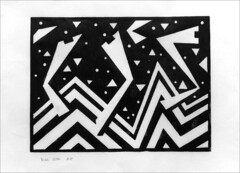 Linoprint. 2016. (Dave Whatt) Tags: linoprint linoprinting blackandwhite art fineartprints abstractart abstract jagged printmaking