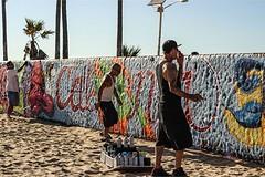 When I went to Venice Beach - Los Angeles, CA . . (Kpaou Kondodji Photography) Tags: instagramapp square squareformat iphoneography uploaded:by=instagram venicebeach vibes beautiful sunny day la losangeles california artist spray streetart graffiti art outdoor hot sand travelstagram landscape palmtrees travel adventure roadtrip usa v