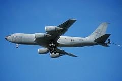 64-14829 KC-135R US Air Force (eigjb) Tags: mildenhall raf air base airport military boeing kc135 c135 tanker usaf us force k35r egun august 2001 transport jet aviation airplane aircraft pre digital slide scan usafe 6414829 100arw 14929