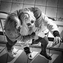 friends (heinzkren) Tags: girls friends selfie bw brillen sonnenbrille glasses girl umarmung brille haare hairs wien vienna kahlenberg freundinen spas handy freude selbstportrait lifestyle