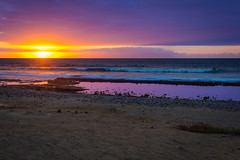 Sunset (rawyvandenbeucken) Tags: 2013 october canaryislands playadelasamericas spain tenerife sunset beach sundown yellow purple blue brown