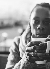 A cup of .... (perspektive68) Tags: woman cup hands ring light blackwhite monochrome portrait natural mitakon 095 50mm sonya7