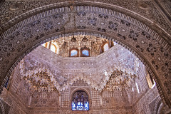 a reminder of beauty in dark times (lunaryuna) Tags: spain andalusia granada laalhambra palace moorisharchitecture timelessbeauty peacefultogetherness ceiling decoration interiordesign unescositeofculturalworldheritage historicarchitecture building beauty