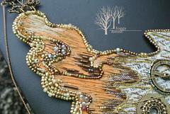 Leonardo`s Flight_11 (~Gilven~) Tags: bead beads beading beadembroidery beadandbutton czechbeads japanesebeads apatite annachernykh jewelry jewelryfindingsbyannachernykh cotton silk embroidery necklace sky clouds steampunk wing handmade foggyforest leonardodavinci