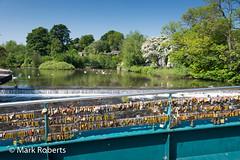 Padlocks on Footbridge (MarkRoberts58) Tags: bakewell england derbyshire footbridge river wye padlocks