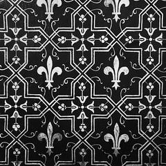 Royal tapestry (SouzouryokuProject) Tags: royalty royal bw square pattern france gold symmetrical geometrical decoration fleurdelis
