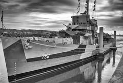 1-23 (richardjphotography) Tags: usnavy uss slater destroyer ww2 decomissioned depthcharge bombs 20mm 30mm armor steel 1944 albany newyork hudsonriver blackandwhite color