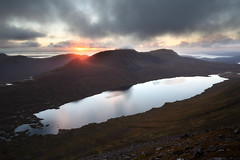The suns fiery kiss to the night... (svensl) Tags: hiking scotland north west torridon autumn sunset hills scottish schottland
