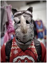 Calgary Expo Holiday Market - Christmas Judoon (Wanderfull1) Tags: calgaryexpo holidaymarket 2016 judoon christmas sweater christmassweater rhinoman drwho xmas