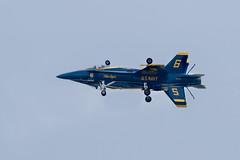 The U.S. Navy Blue Angels - Precision Symmetry (Joseph Hoetzl) Tags: america plane flying military flight navy jet symmetry airshow atlanticcity boardwalk hornet f18 blueangels aerobatics atlanticcityairshow thunderovertheboardwalk