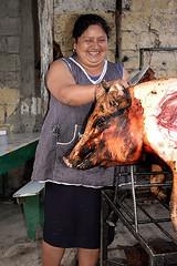 Roasted pig (pedro katz) Tags: woman ecuador mujer hornado azoguez