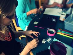 Bristlebot making (diane horvath) Tags: makerspace bristlebots medfieldtech