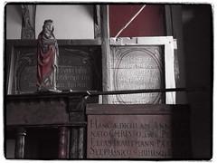 Chorschranke mit schner Madonna (1elf12) Tags: church germany deutschland madonna kirche unesco partialcolor harz goslar kapelle stannenhaus chorschranke