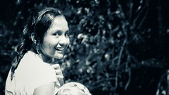 DSCF7497-04 (mohammed_barakat) Tags: ocean portrait beach water girl indonesia play main nicesmile cewek cilldren