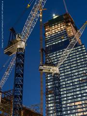 30 Hudson Yards (P9200596) (Michael.Lee.Pics.NYC) Tags: longexposure newyork architecture night subway construction olympus cranes bluehour westside 7train mkii markii em5 hudsonyards voigtlandernokton25mm