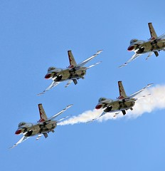 Thunderbirds (suddenjim) Tags: airplane jet f16 aricraft wingsoverhouston usafthunderbirds suddenjim jimstough