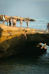 285 (nelson.kimberli) Tags: ocean california travel sunset sandiego sunsetcliffs cliffdivers daredevils luscombspoint
