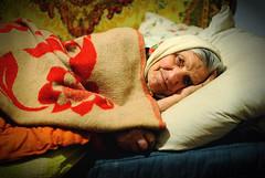 DSC_6302 (klakeduker) Tags: old portrait eye face female bed view grandmother sleep villages human age blanket